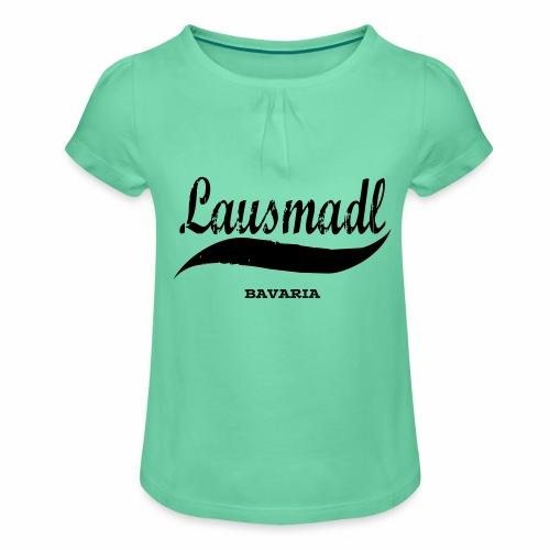 LAUSMADL BAVARIA - Mädchen-T-Shirt mit Raffungen