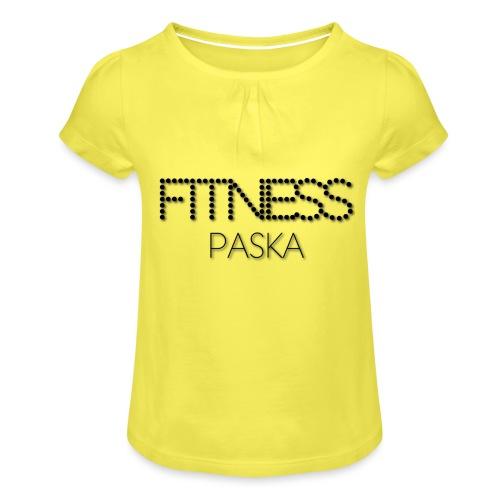 FITNESS PASKA - Tyttöjen t-paita, jossa rypytyksiä