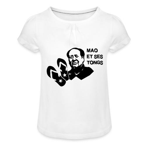 MAO et ses tongs - T-shirt à fronces au col Fille
