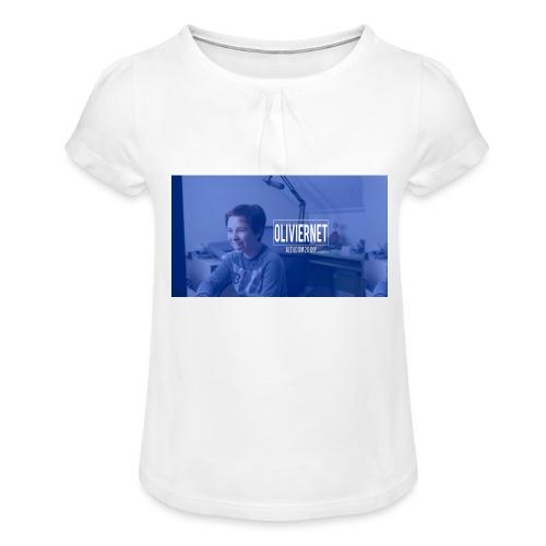 banner 3 jpg - Meisjes-T-shirt met plooien