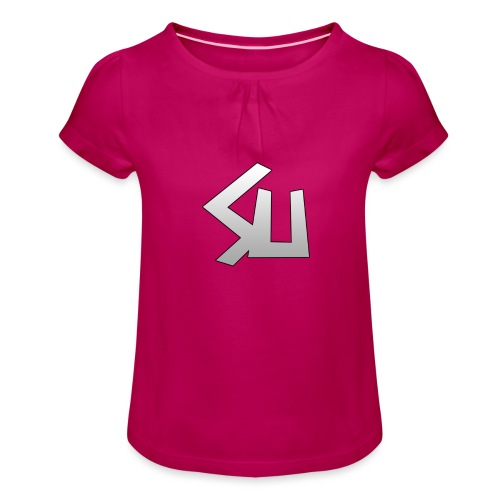 Plain SU logo - Girl's T-Shirt with Ruffles