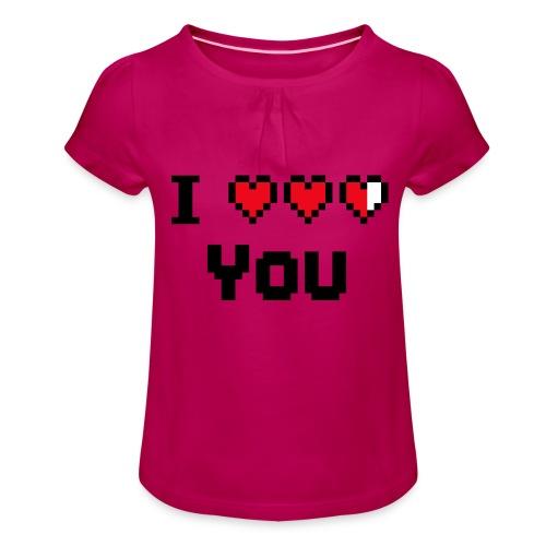 I pixelhearts you - Meisjes-T-shirt met plooien
