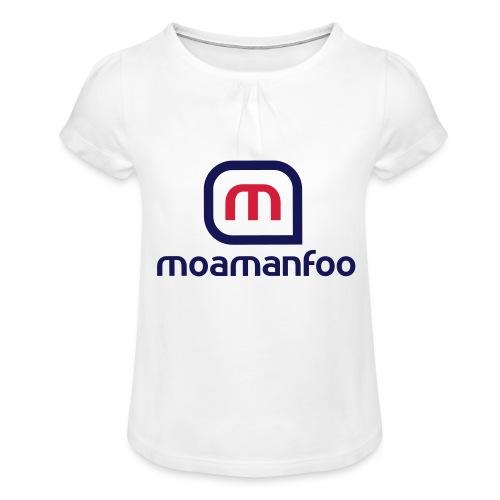 Moamanfoo - T-shirt à fronces au col Fille