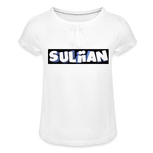 Suliian -Schrift 1 - Mädchen-T-Shirt mit Raffungen