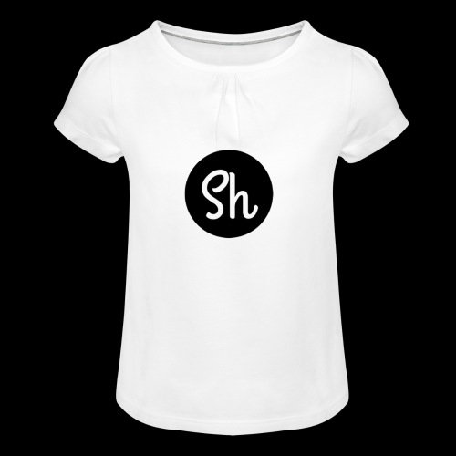 LOGO 2 - Girl's T-Shirt with Ruffles