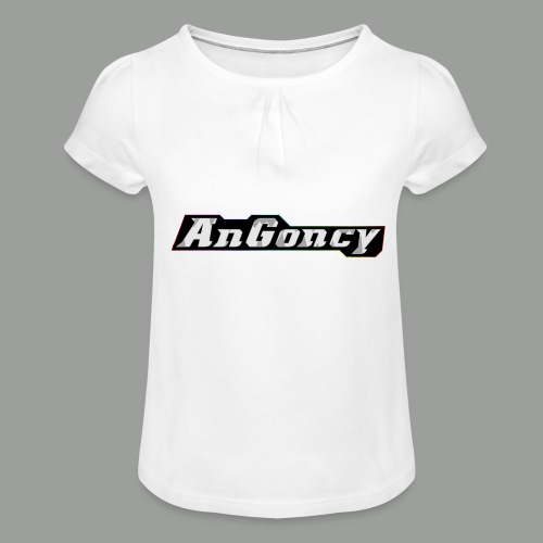 My new limited logo - Girl's T-Shirt with Ruffles