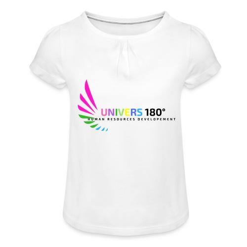 Univers 180° - Mädchen-T-Shirt mit Raffungen