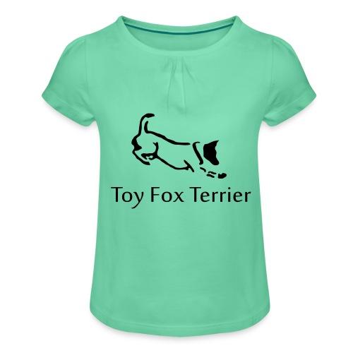 tft - Tyttöjen t-paita, jossa rypytyksiä