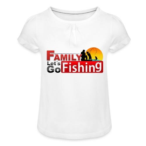 FAMILY LET´S GO FISHING FONDO - Camiseta para niña con drapeado