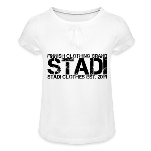 Stadi Clothes - Tyttöjen t-paita, jossa rypytyksiä