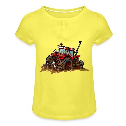 IH in de blub - Meisjes-T-shirt met plooien