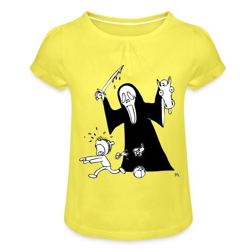 halloween t-skjorte - Jente-T-skjorte med frynser
