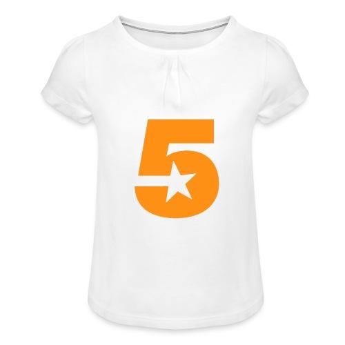 No5 - Girl's T-Shirt with Ruffles