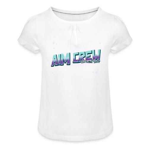Aim Crew - Mädchen-T-Shirt mit Raffungen