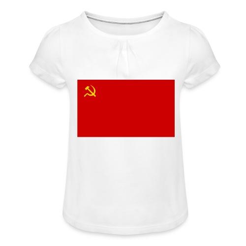 Eipä kestä - Tyttöjen t-paita, jossa rypytyksiä