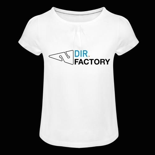 Logo mit Arrow DESIGN - Mädchen-T-Shirt mit Raffungen