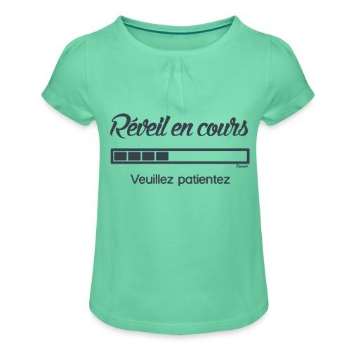 Réveil en cours (F) - T-shirt à fronces au col Fille