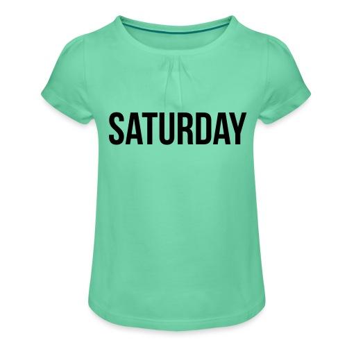 Saturday - Girl's T-Shirt with Ruffles