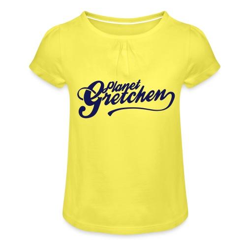 Planet Gretchen svart - T-shirt med rynkning flicka