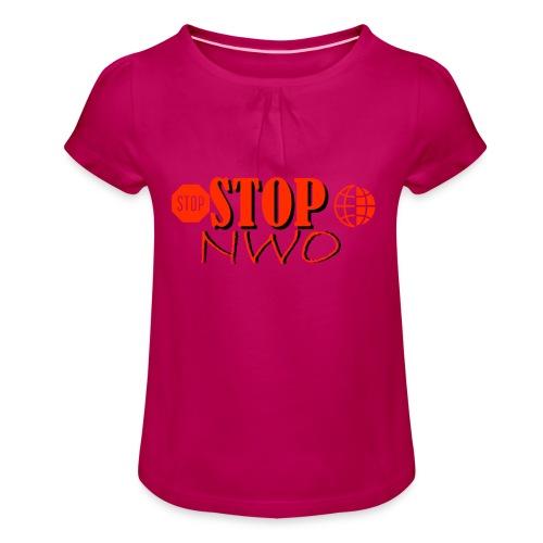STOPNWO1 - Koszulka dziewczęca z marszczeniami