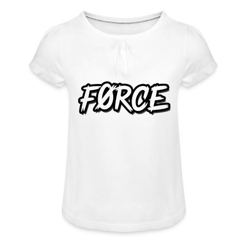 K - Meisjes-T-shirt met plooien