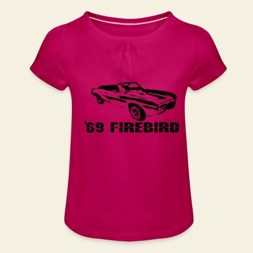 firebird small - Pige T-shirt med flæser