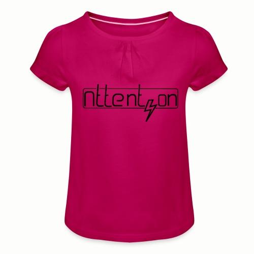 attention - Meisjes-T-shirt met plooien