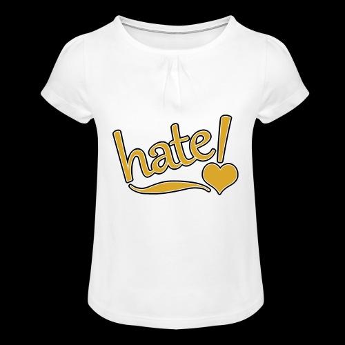 hate ! - T-shirt à fronces au col Fille