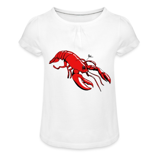 Lobster - Girl's T-Shirt with Ruffles