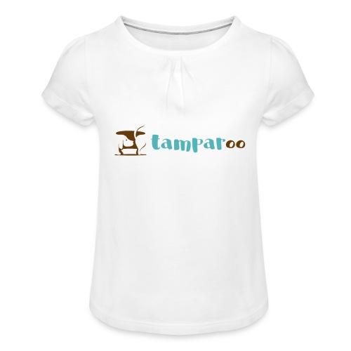 Tamparoo - Maglietta da ragazza con arricciatura