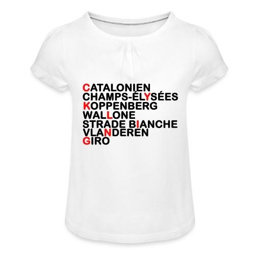 CYKLING - Pige T-shirt med flæser