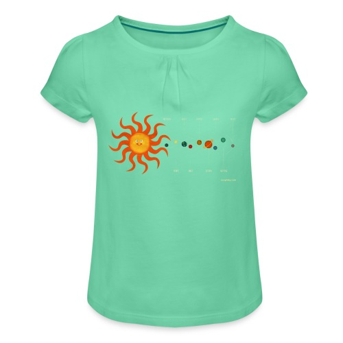 Solar System - Girl's T-Shirt with Ruffles