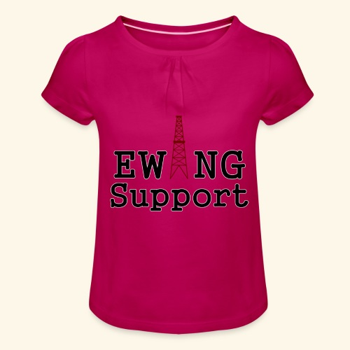 Ewing Support - Girl's T-Shirt with Ruffles