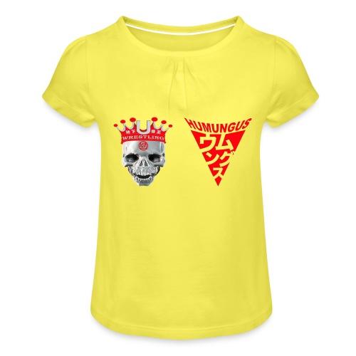 skull krone humungus3 png - Mädchen-T-Shirt mit Raffungen