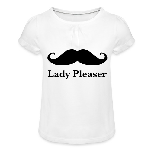 Lady Pleaser T-Shirt in Green - Girl's T-Shirt with Ruffles