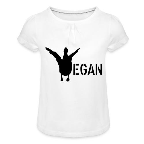 venteklein - Mädchen-T-Shirt mit Raffungen
