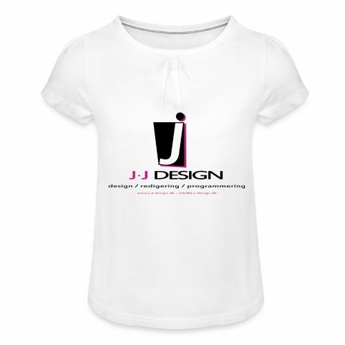 LOGO_J-J_DESIGN_FULL_for_ - Pige T-shirt med flæser