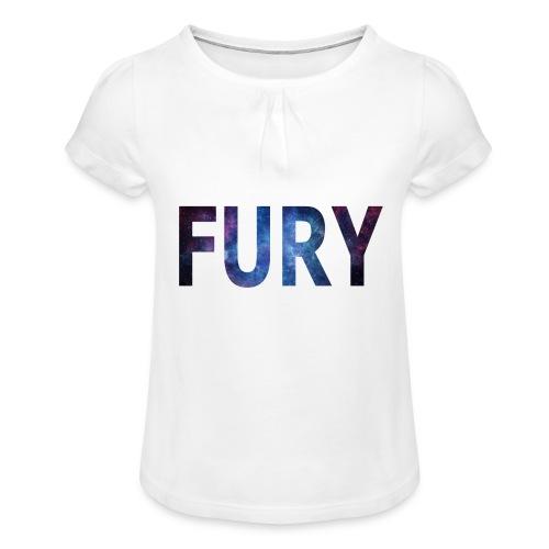 FURY - Pige T-shirt med flæser