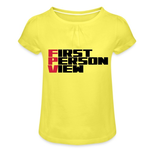 First Person View - Girl's T-Shirt with Ruffles