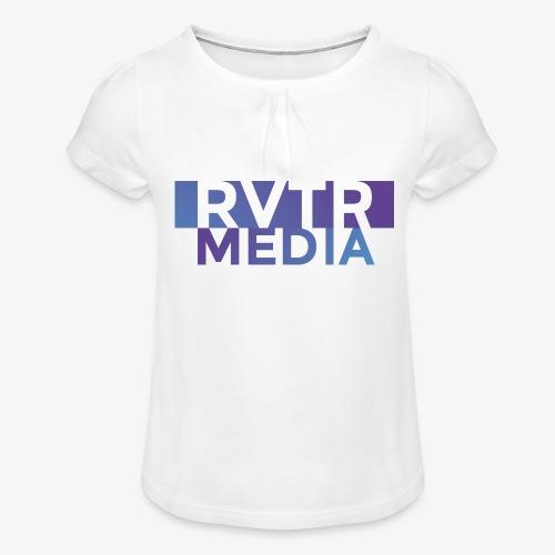 RVTR media NEW Design - Mädchen-T-Shirt mit Raffungen