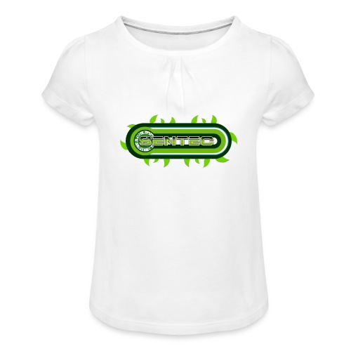 GREEN LOGO - Camiseta para niña con drapeado