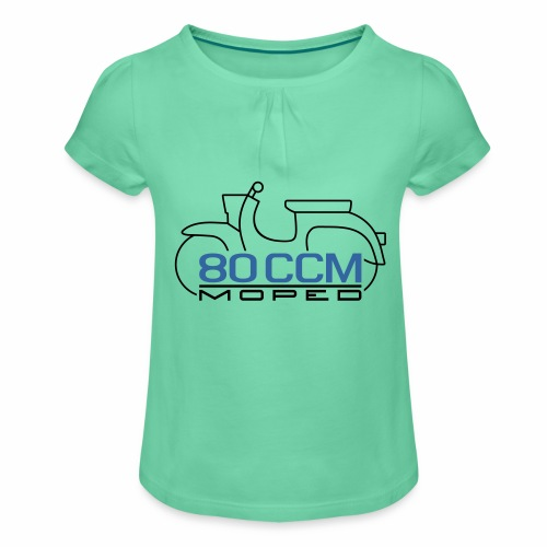 Moped Schwalbe Emblem 80 ccm - Girl's T-Shirt with Ruffles