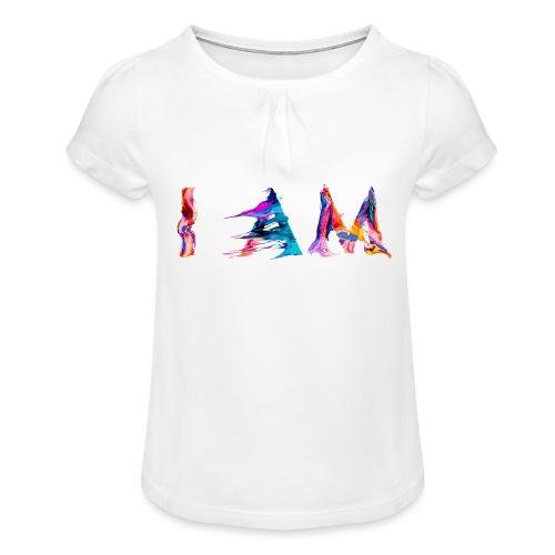 I AM - T-shirt à fronces au col Fille