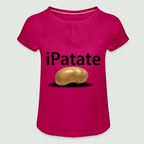 iPatate - T-shirt à fronces au col Fille