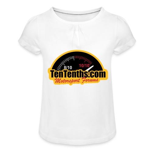 3Colour_Logo - Girl's T-Shirt with Ruffles
