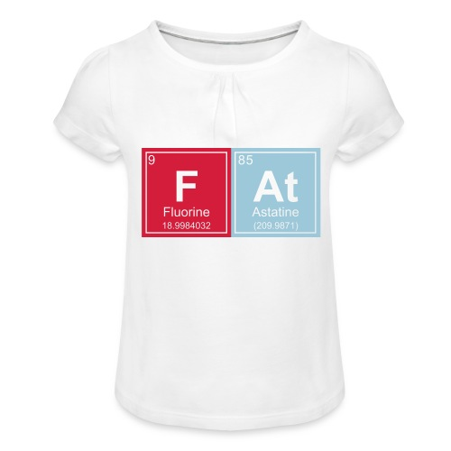 Geeky Fat Periodic Elements - Girl's T-Shirt with Ruffles