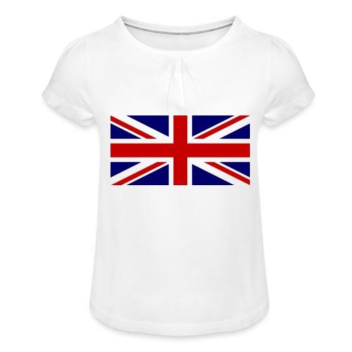 drapeau anglais - T-shirt à fronces au col Fille