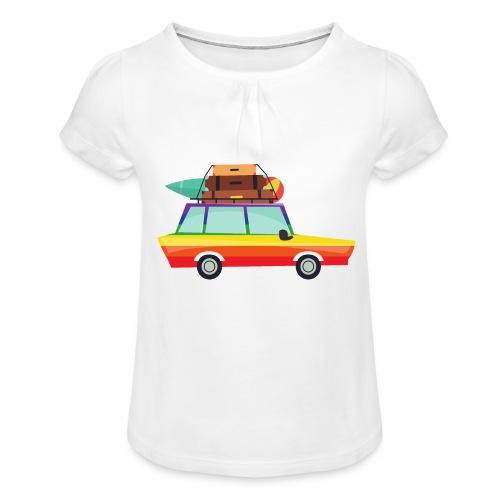 Gay Van | LGBT | Pride - Mädchen-T-Shirt mit Raffungen