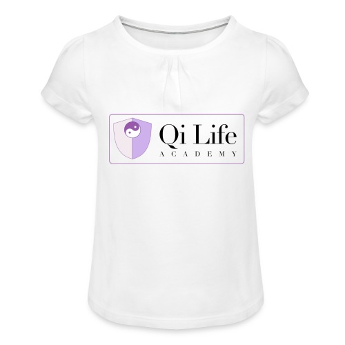 Qi Life Academy Promo Gear - Girl's T-Shirt with Ruffles