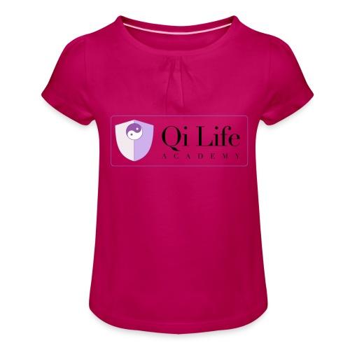 Qi Life Academy Promo Gear - Girl's T-Shirt with Ruffles